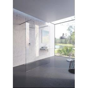 Dušo kabina-stacionari sienelė Ravak Walk-In Free, 130x200 bright alu+Transparent