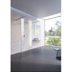 Dušo kabina-stacionari sienelė Ravak Walk-In Free, 150x200 bright alu+Transparent