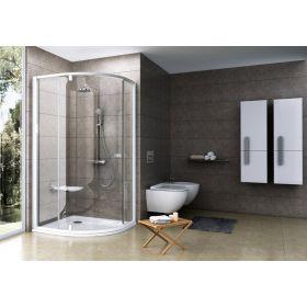 Pusapvalė dušo kabina Ravak Pivot, PSKK3-100, balta/balta+stiklas Transparent