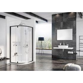 Pusapvalė dušo kabina Ravak Pivot, PSKK3-100, juoda+Transparent