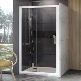 Stumdomos dušo durys Ravak 10°, 10DP2-100, balta+Transparent