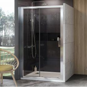 Stumdomos dušo durys Ravak 10°, 10DP2-110, blizgi+Transparent