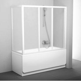 Stacionari vonios sienelė Ravak, APSV-75, balta+stiklas Grape