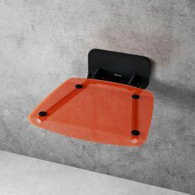 Dušo sėdynė Ravak, Ovo B II, oranžinė/juoda