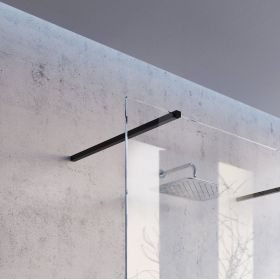 Montavimo rinkinys dušo kabinoms ir sienelėms Ravak Brilliant ir Walk-In, W SET, 80 Wall/Corner Juoda