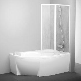 Vonios sienelė Ravak Rosa, VSK2 140, R balta+plastikas Rain