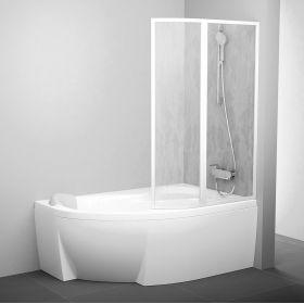 Vonios sienelė Ravak Rosa, VSK2 160, R balta+plastikas Rain