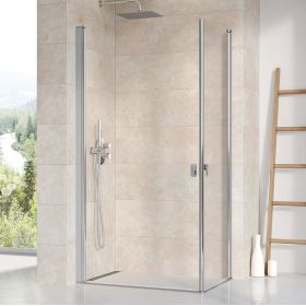 Stačiakampės dušo kabinos sienelė Ravak Chrome, CRV1-80, blizgi+stiklas Transparent