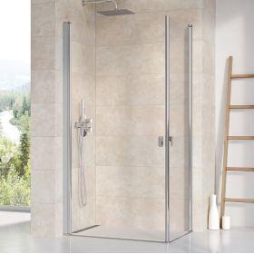 Stačiakampės dušo kabinos sienelė Ravak Chrome, CRV1-90, blizgi+stiklas Transparent