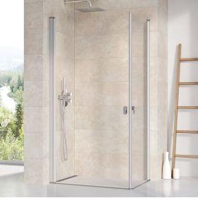 Stačiakampės dušo kabinos sienelė Ravak Chrome, CRV1-90, satinas+stiklas Transparent