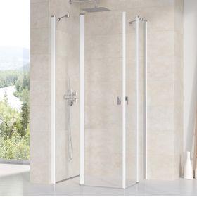 Stačiakampės dušo kabinos sienelė Ravak Chrome, CRV2-120, balta+stiklas Transparent
