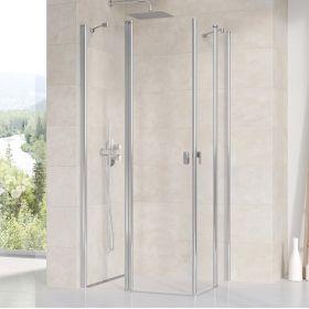Stačiakampės dušo kabinos sienelė Ravak Chrome, CRV2-90, blizgi+stiklas Transparent