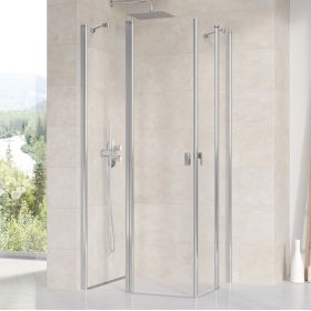 Stačiakampės dušo kabinos sienelė Ravak Chrome, CRV2-110, blizgi+stiklas Transparent