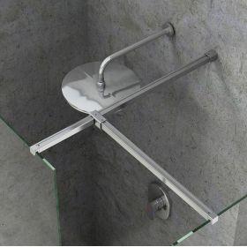 Montavimo rinkinys dušo kabinoms ir sienelėms Ravak Brilliant ir Walk-In, W SET, Uni Free/Wall (bright alu)