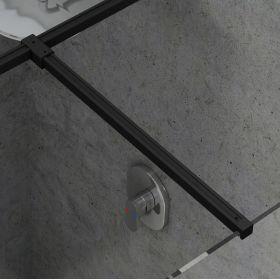 Montavimo rinkinys dušo kabinoms ir sienelėms Ravak Brilliant ir Walk-In, W SET, Uni T spoj juoda