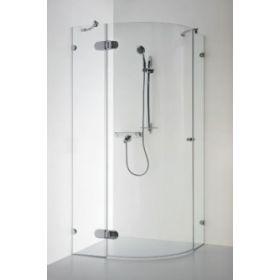 Berėmė pusapvalė dušo kabina Baltijos Brasta, Banga 90x90x190 skaidrus stiklas