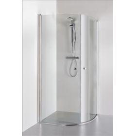 Berėmė pusapvalė dušo kabina Baltijos Brasta, Katarina 90x90x190 skaidrus stiklas