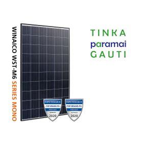 Fotovoltinės saulės elektrinės modulis Winaico, 330W (1 vnt.)  juodu rėmeliu WST-330M6