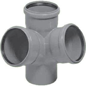 Vidaus kanalizacijos keturšakis HTED, kampinis, d 110