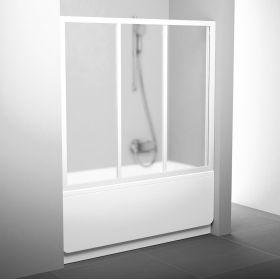 Stumdomos vonios durys Ravak, AVDP3-140, balta+stiklas Grape