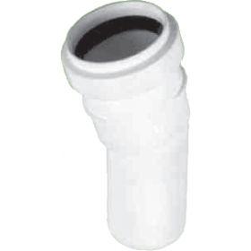 Vidaus kanalizacijos alkūnė HTB, d 32, , 30*, balta