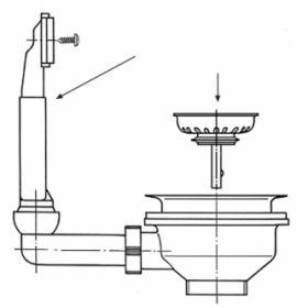 Ventilis FRANKE plautuvės, d 3''1/2, užkemšamas, EFN 610