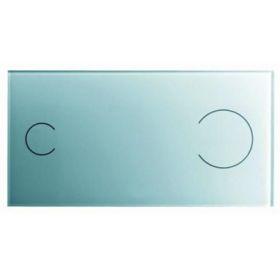 WC klavišas VISIGN FOR MORE 100 glass/juodas