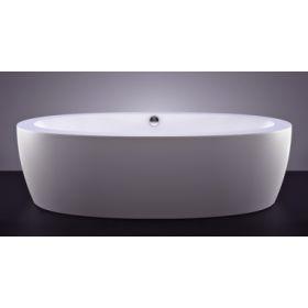 Akmens masės vonia VISPOOL FESTA 2040x1100 balta su apdailomis