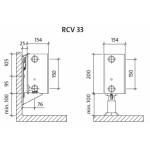 Radiatorius PURMO RCV 33 200-, 1100, pajungimas apačioje (be laikiklių)