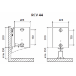 Radiatorius PURMO RCV 44 200-, 2600, pajungimas apačioje (be laikiklių)