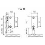 Radiatorius PURMO FCV 33 200-, 1100, pajungimas apačioje (be laikiklių)