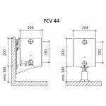 Radiatorius PURMO FCV 44 200-, 1000, pajungimas apačioje (be laikiklių)