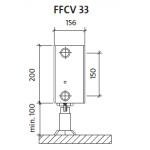Radiatorius PURMO FFCV 33 200-, 2300, pajungimas apačioje (be laikiklių)