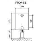 Radiatorius PURMO FFCV 44 200-, 800, pajungimas apačioje (be laikiklių)