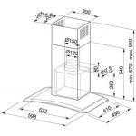 Garų surinktuvas FRANKE Glass Soft FGC 606 XS