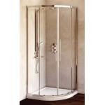 Dušo kabina IDEAL STANDARD Kubo 90 cm, pusapvalė, profilis chromas, stiklas skaidrus
