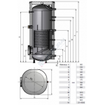 Vandens šildytuvas NIBE-BIAWAR MEGA W-E400.81A 400L vertikalus, be teno