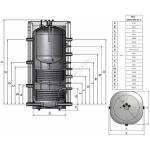 Akumuliacinė talpa NIBE-BIAWAR BUZ-1000/200.91A