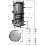 Vandens šildytuvas NIBE-BIAWAR MEGA A W-E750.81A 750L vertikalus, be teno