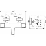 Jaukurai Termostatinis vonios maišytuvas IDEAL STANDARD Ceratherm 100