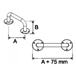 Stacionari rankena neįgaliesiems Corrado, 700 mm, balta