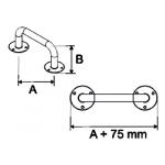 Stacionari rankena neįgaliesiems Corrado, 400 mm, balta