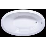 Akmens masės vonia Vispool Solare, 177x107 ovali balta