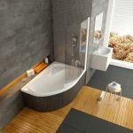 Vonios sienelė Ravak Rosa, CVSK1 140/150, L balta+stiklas Transparent