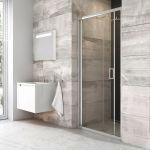 Sulenkiamos dušo durys Ravak Blix, BLDZ2-70 bright alu+Transparent
