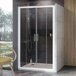 Stumdomos dušo durys Ravak 10°, 10DP4-120, balta+Transparent