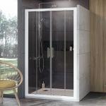 Stumdomos dušo durys Ravak 10°, 10DP4-130, balta+Transparent