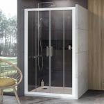 Stumdomos dušo durys Ravak 10°, 10DP4-190, balta+Transparent