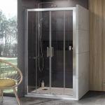 Stumdomos dušo durys Ravak 10°, 10DP4-200, satinas+Transparent