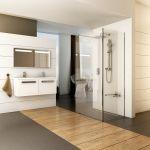 Dušo kabina Ravak Walk-in Corner, 110/80x200 bright alu+Transparent
